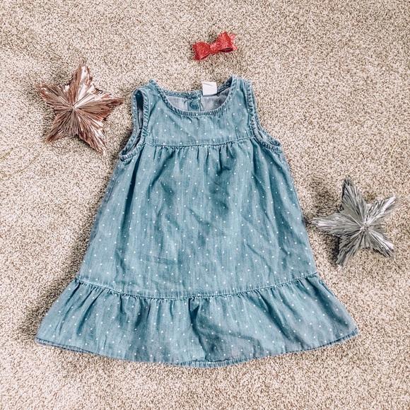 NWT Baby Gap Toddler Girl Sleeveless Shirt Dress Size 18-24 Months